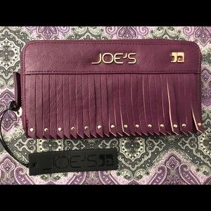 Joes Jeans Purple Vegan Leather Wallet